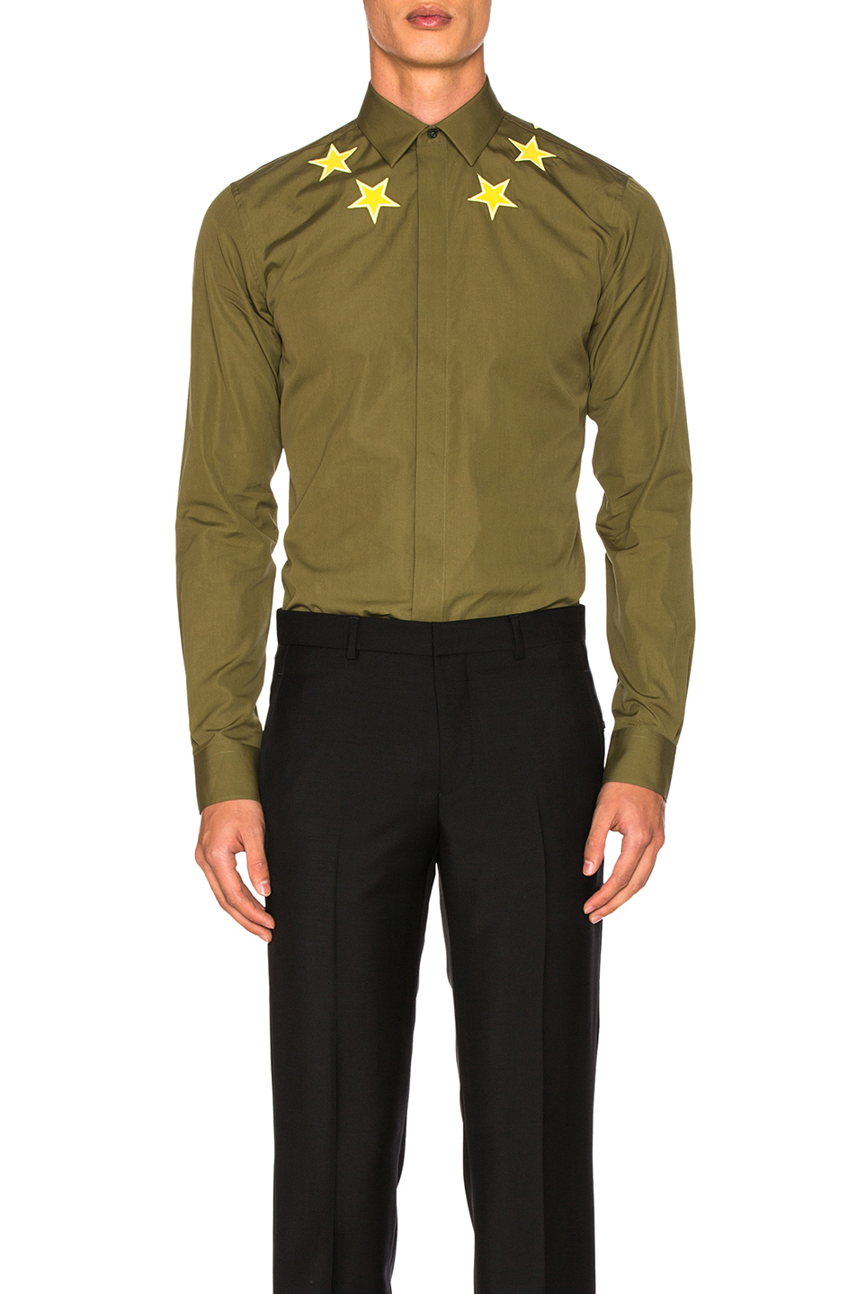 Givenchy Patch Star Shirt in Green