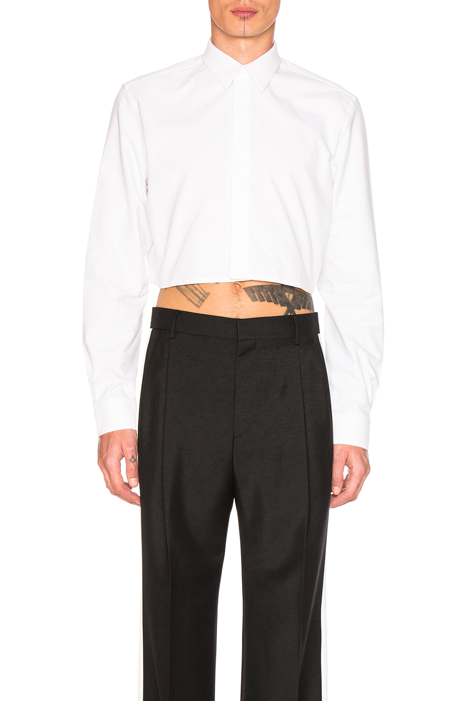 Givenchy Cropped Shirt in White