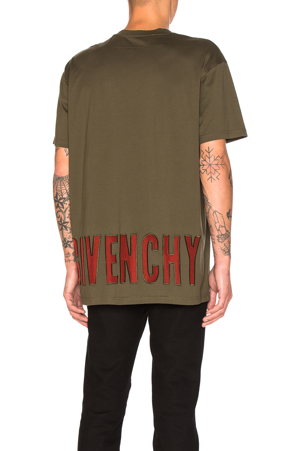 Givenchy Sheer Logo Tee in Green