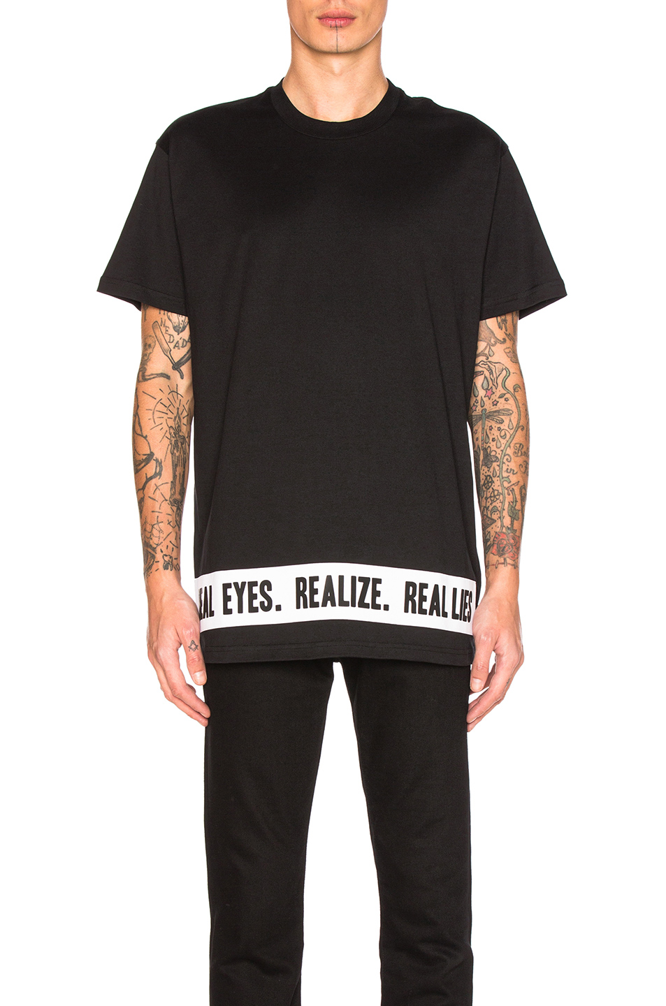 Photo of Givenchy Realize Tee in Black - shop Givenchy menswear