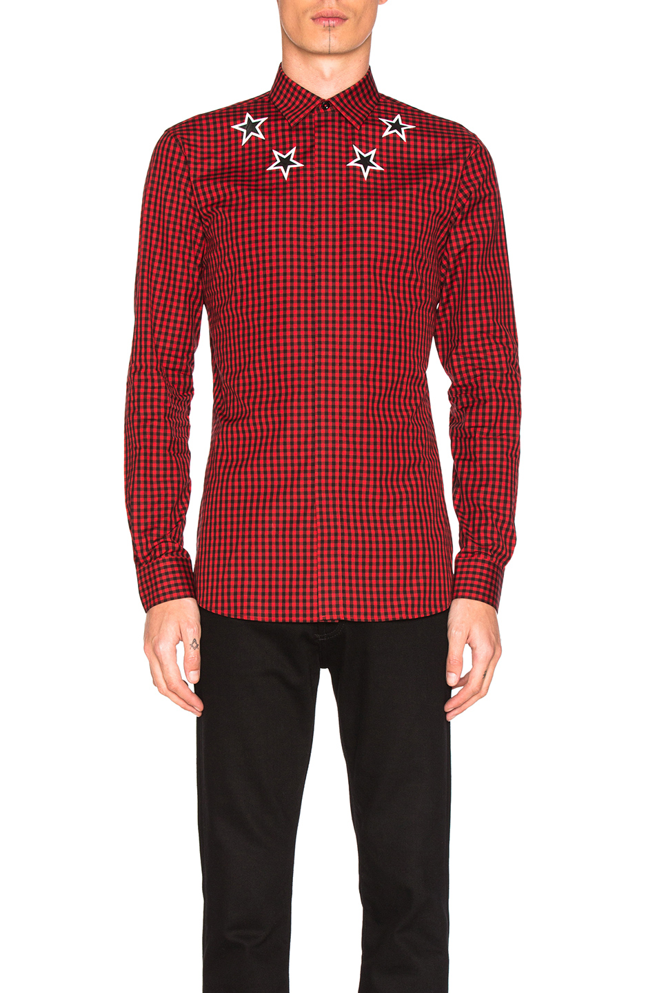 GIVENCHY Plaid Shirt in Red,Checkered & Plaid