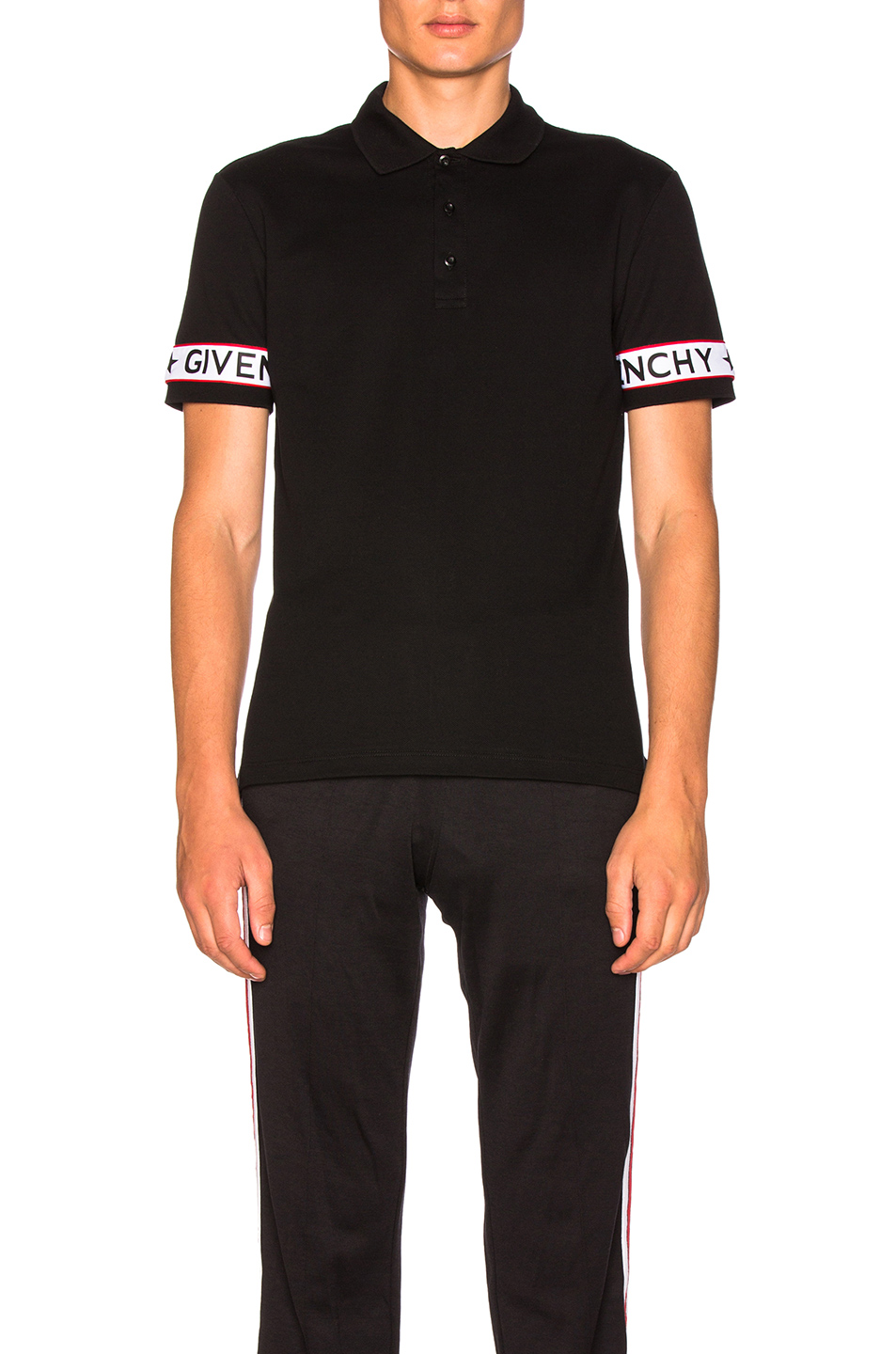 Givenchy Taping Polo in Black