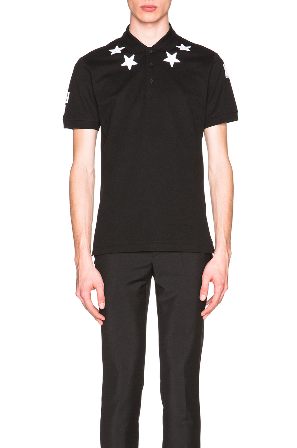 Givenchy Cuban Fit Star Collar 74 Polo in Black