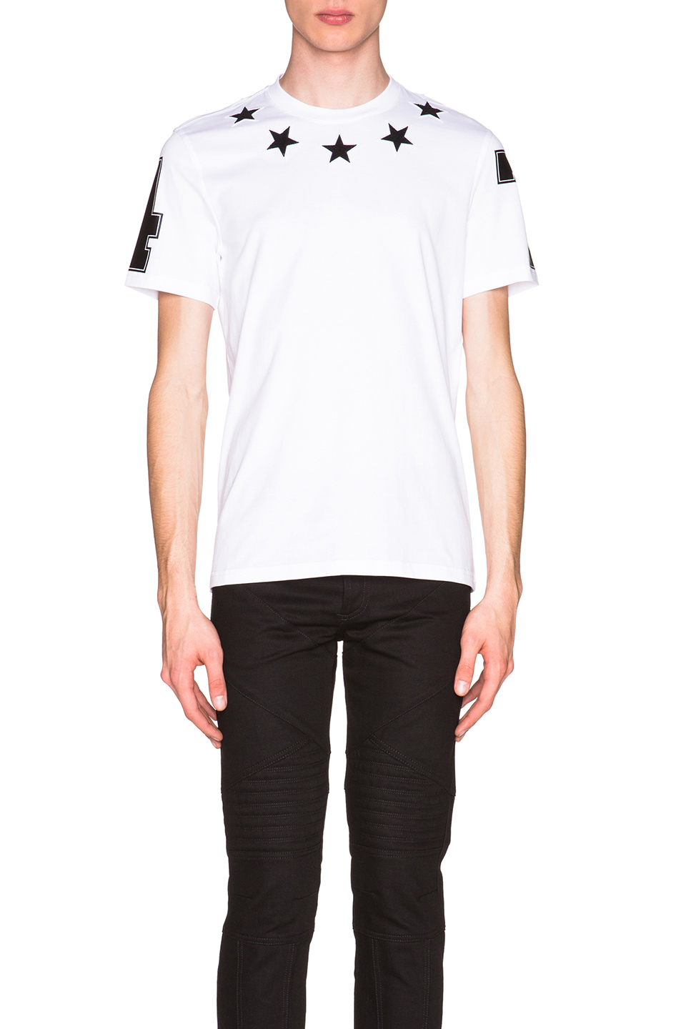 Givenchy Cuban Fit Star Collar 74 Tee in White