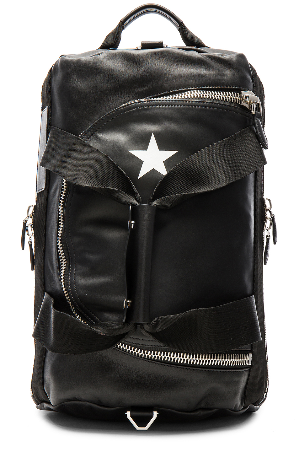 Photo of Givenchy Leather & Star Backpack in Black - shop Givenchy menswear