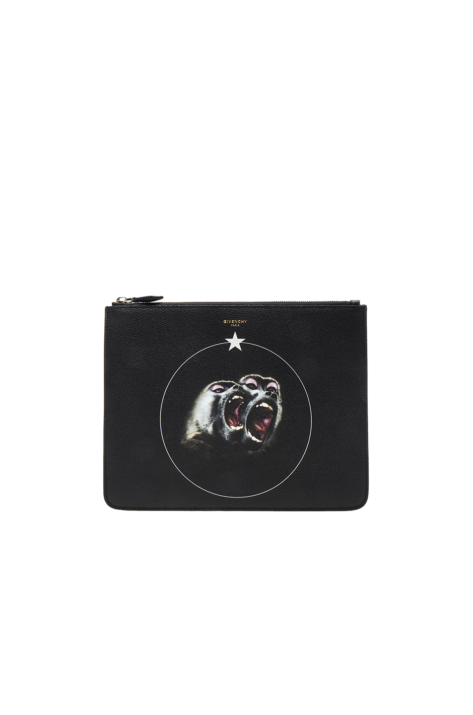 Photo of Givenchy Large Zip Pouch in Black - shop Givenchy menswear