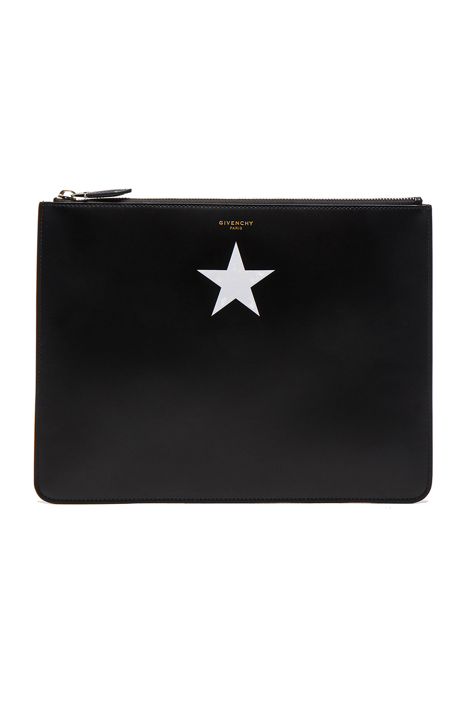 Givenchy White Star on Leather Pouch in Black
