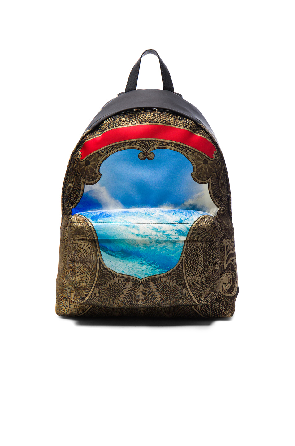Givenchy Wave Print Backpack in Blue,Black