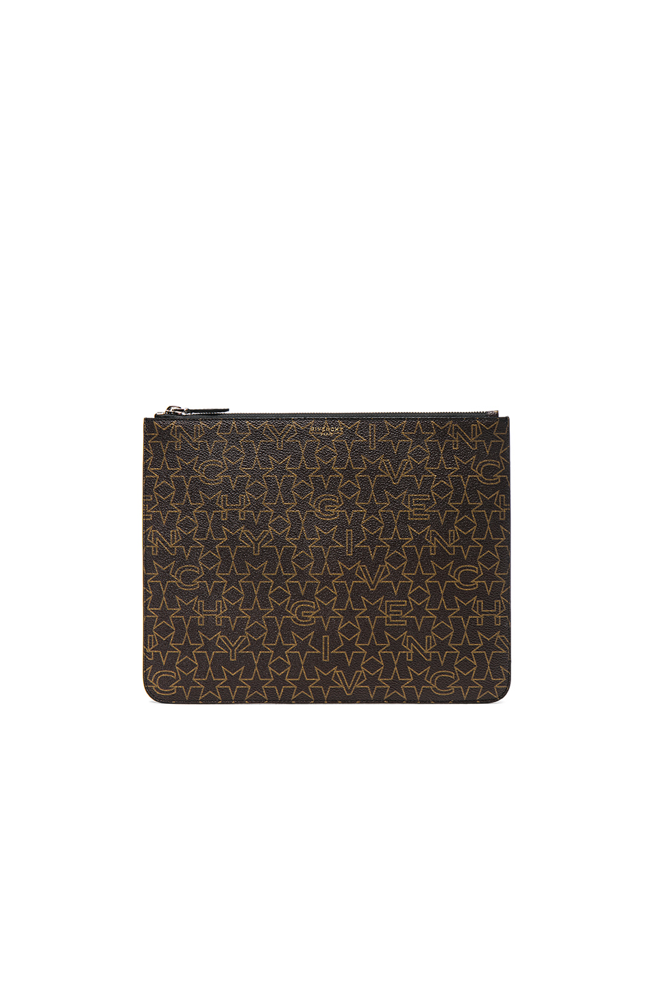 Givenchy Large Zip Pouch in Brown