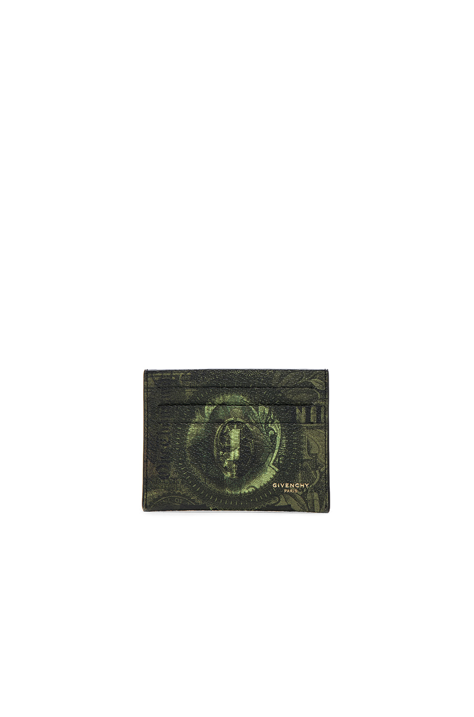 Givenchy Printed Cardholder in Green,Abstract
