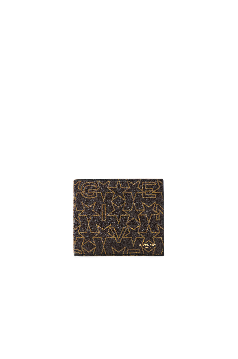 Givenchy Printed Billfold Wallet in Brown,Geometric Print