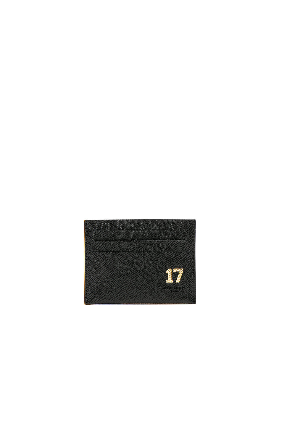 Givenchy 17 Embossed Card Holder in Black