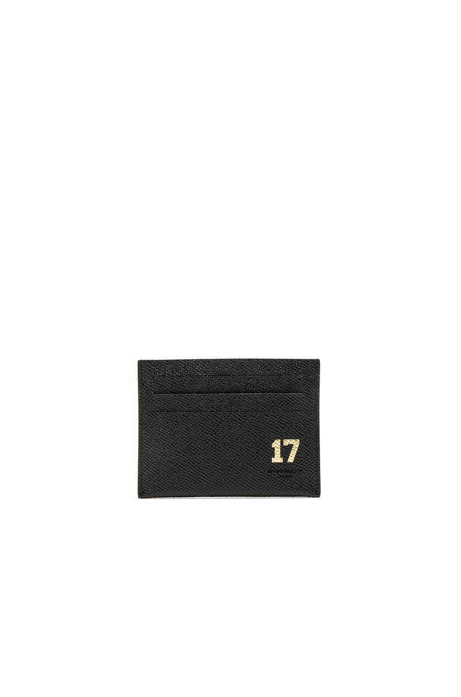 Givenchy 17 Embossed Card Holder in Black