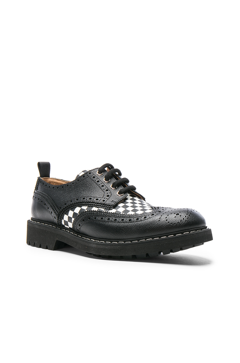 Givenchy Checkerboard Leather Dress Shoes in Black,Checkered & Plaid