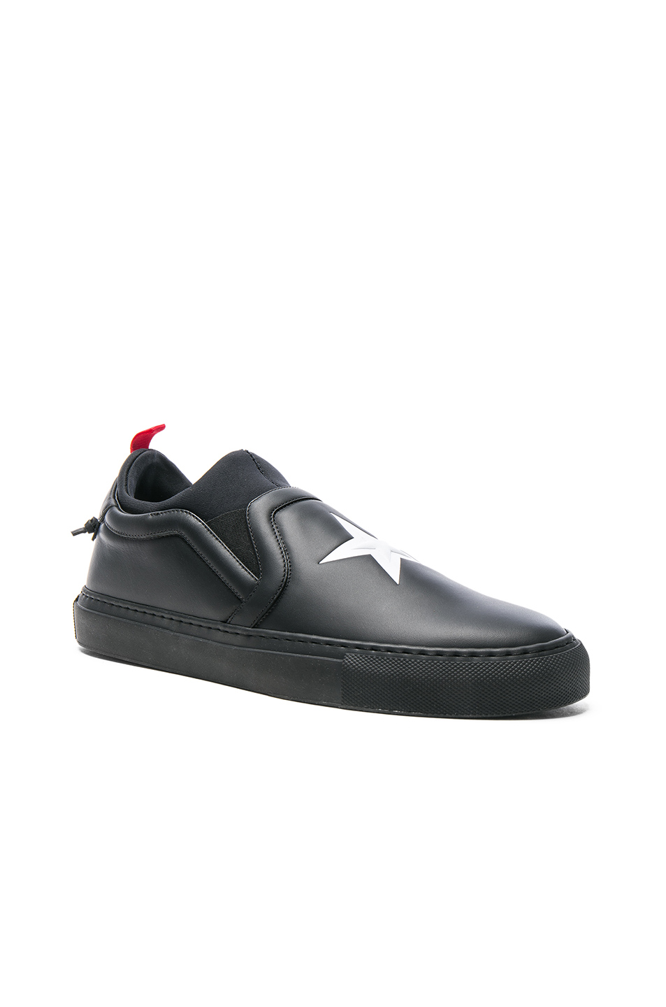 Givenchy Street Skate Sock Leather Sneakers in Black