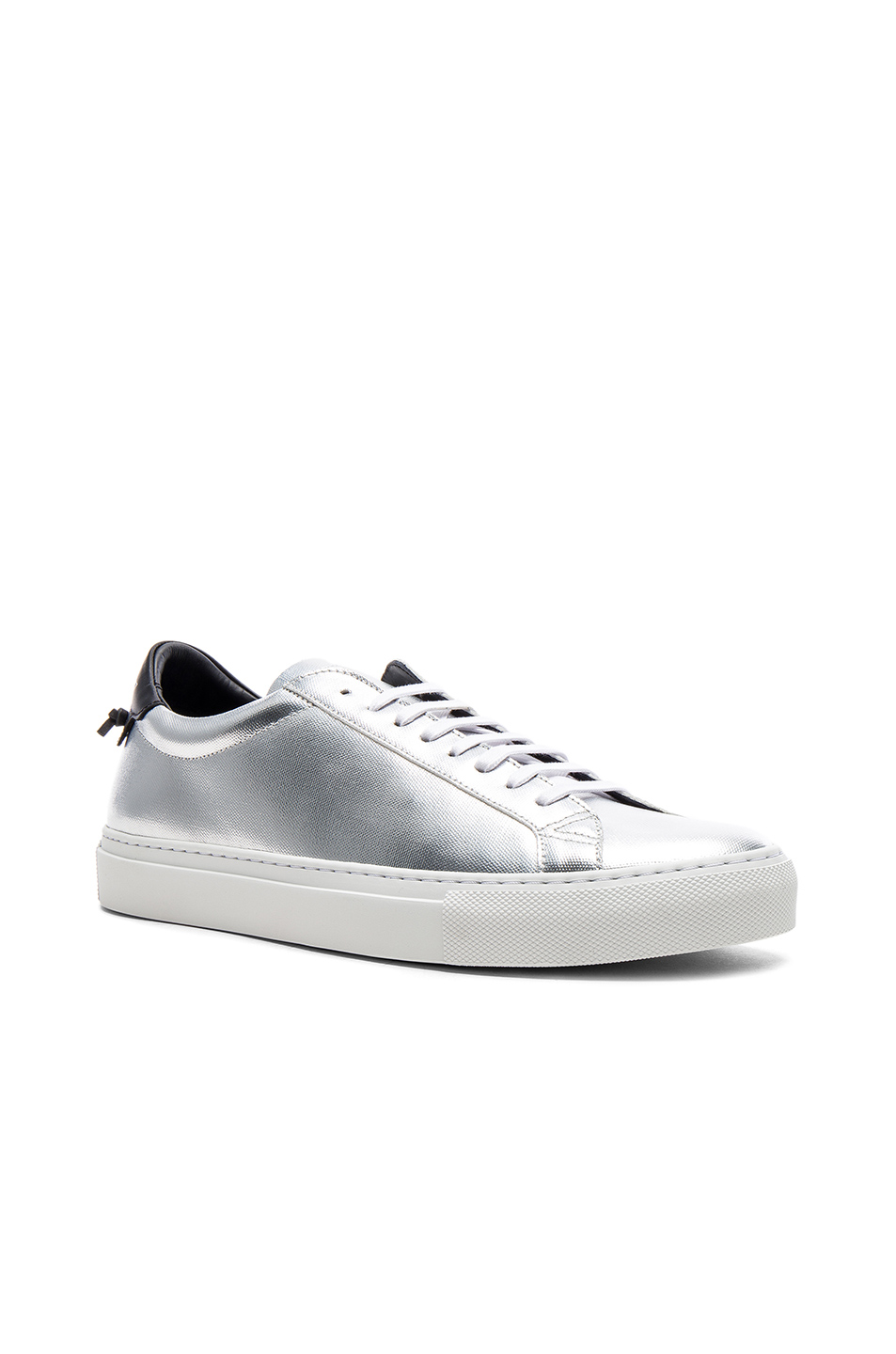 Givenchy Leather Urban Tie Knot Sneakers in Metallics