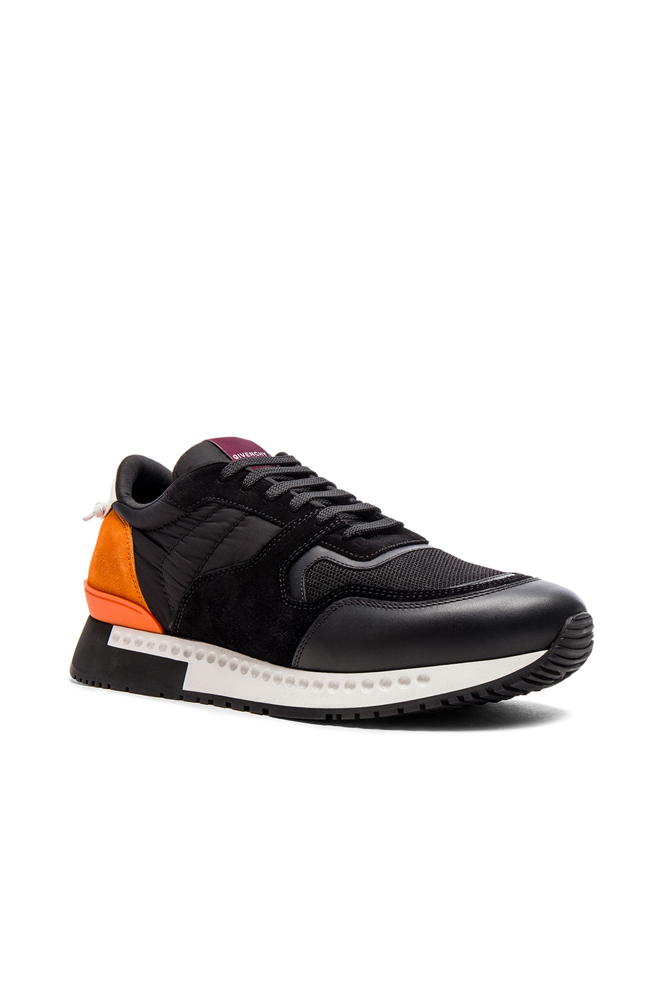 Givenchy Active Runner Sneakers in Black,Orange