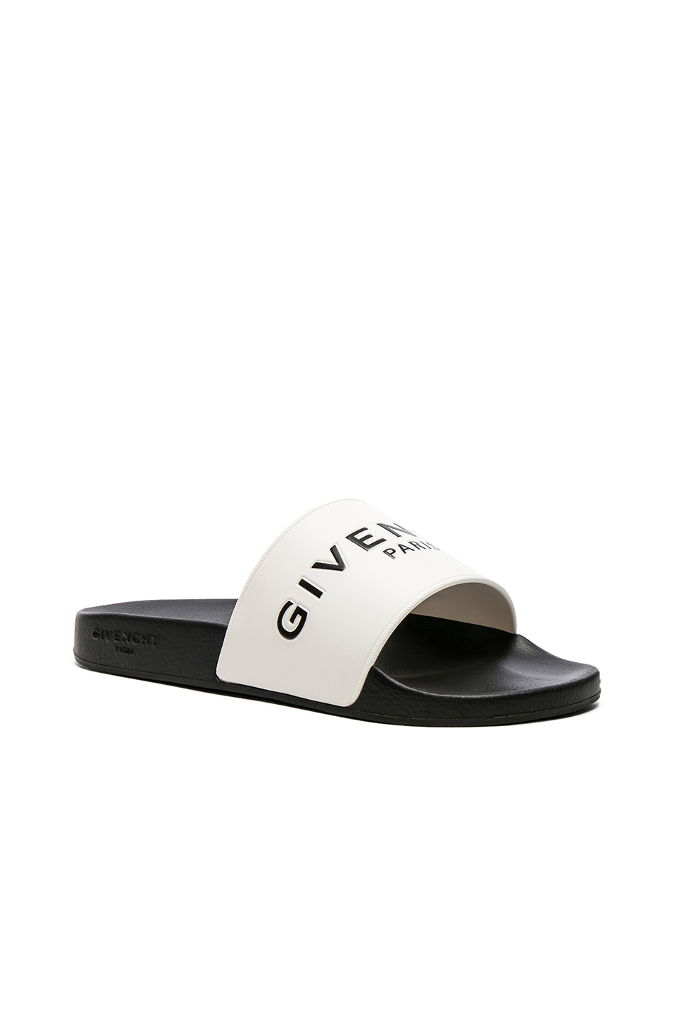 Givenchy Slide Sandals in Black,White
