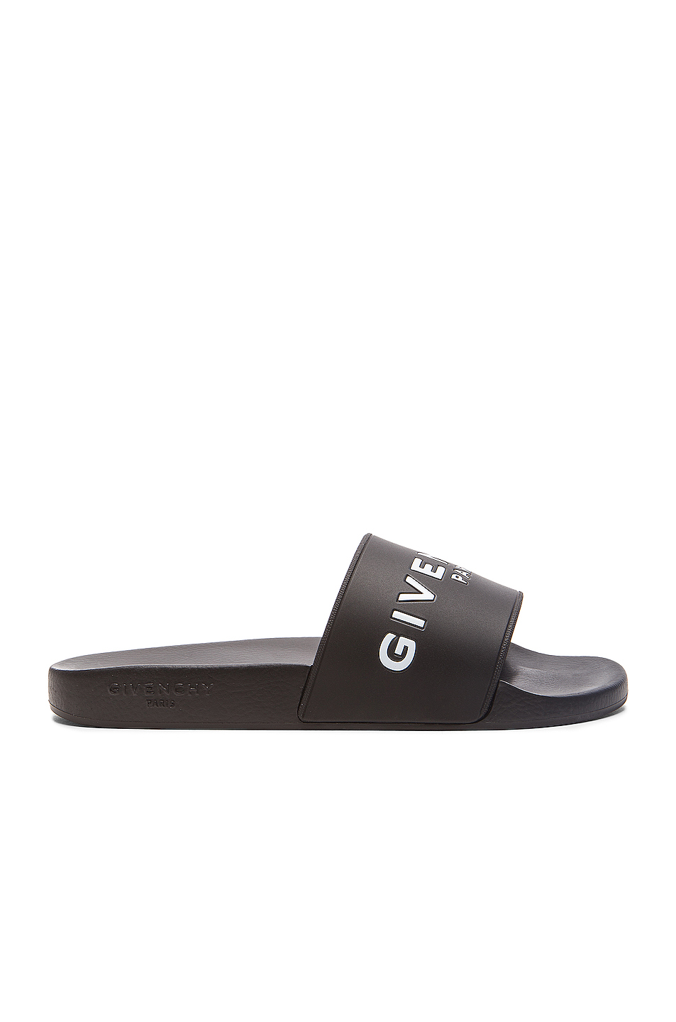 Photo of GIVENCHY Polyurethane Slide Sandals in Black - shop Givenchy menswear