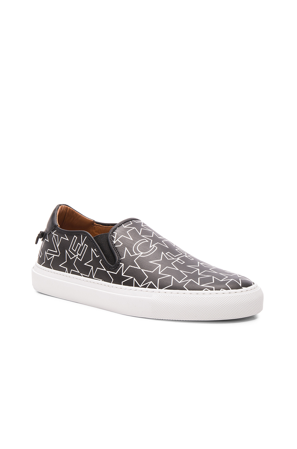 Givenchy Coated Canvas Street Skate Sneakers in Black,Geometric Print
