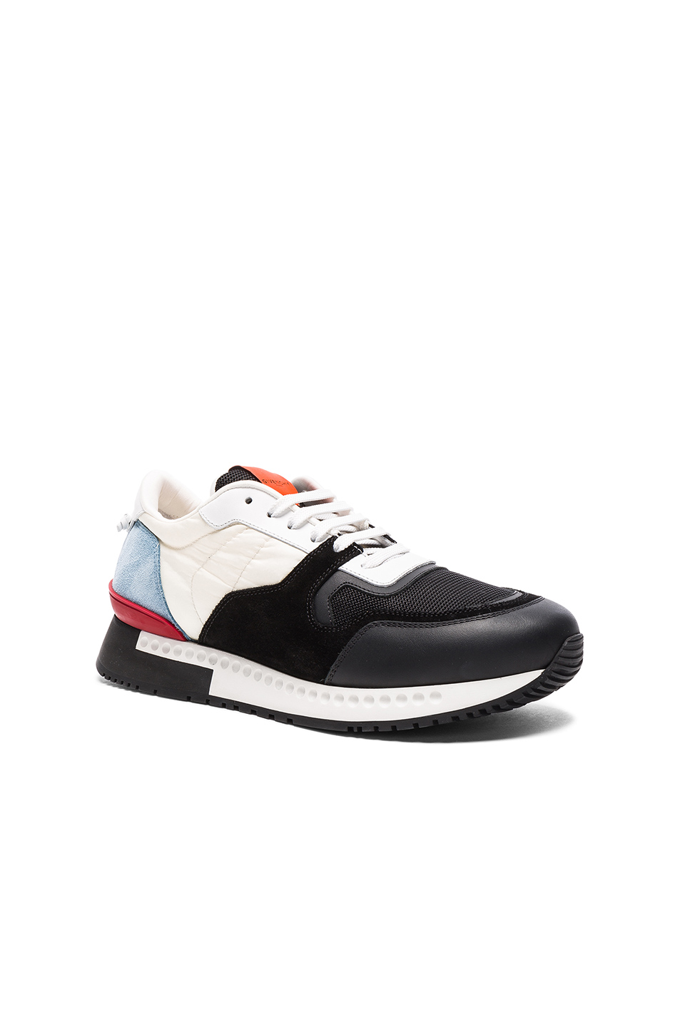 Givenchy Runner Active Nylon Sneakers in Black,White,Blue