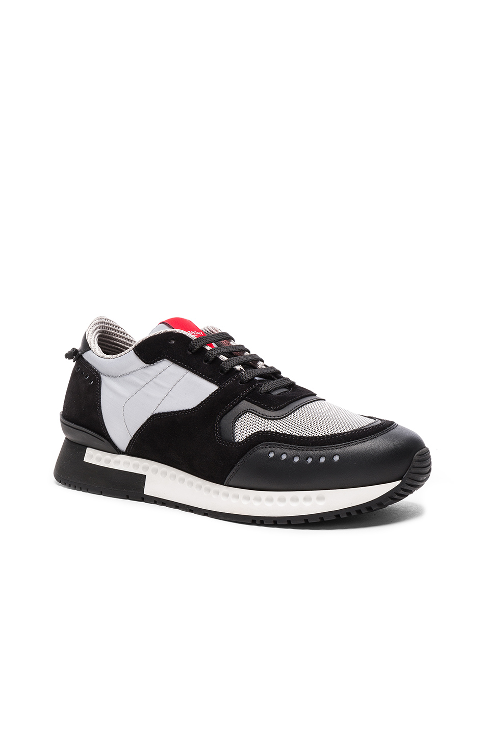 Givenchy Runner Active Nylon Sneakers in Black,Gray,Metallics