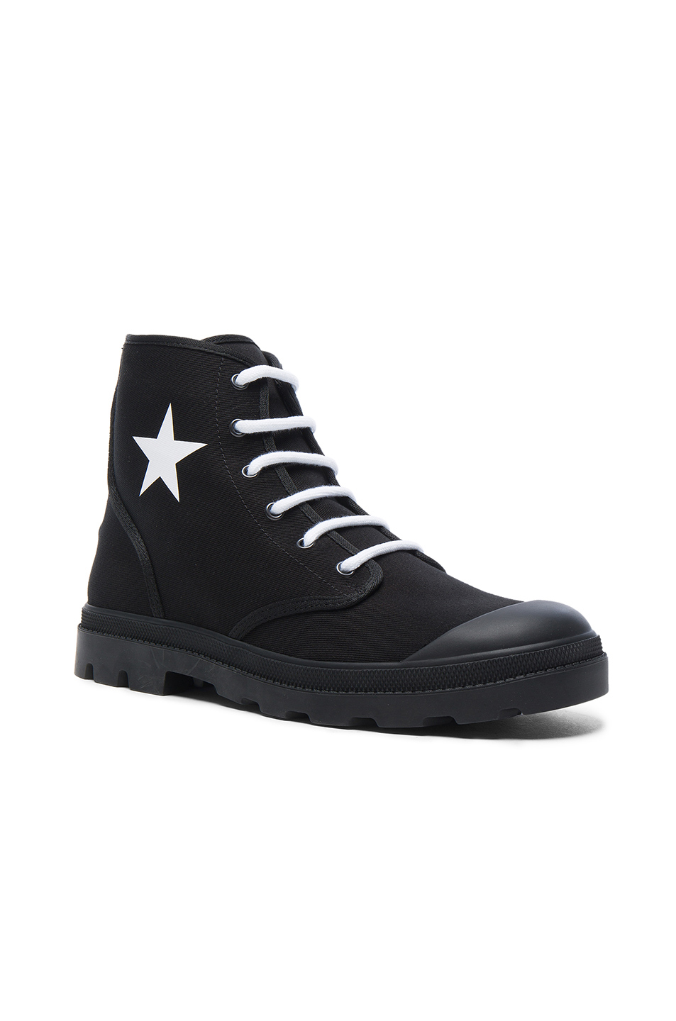Givenchy Canvas Star Sneaker Boots in Black