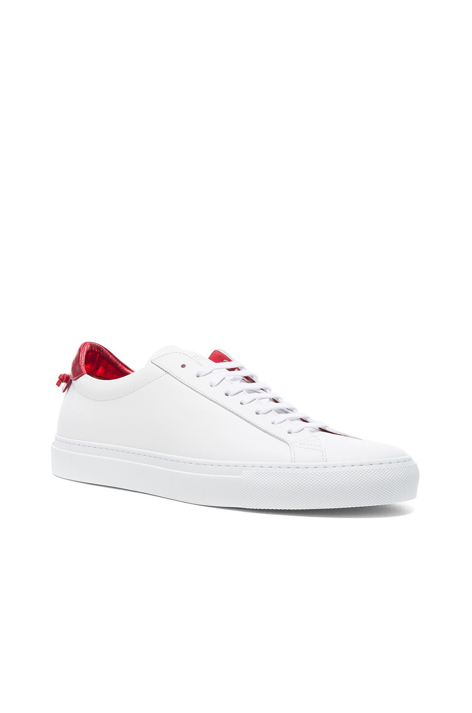 Givenchy Leather Urban Street Low Top Sneakers in White