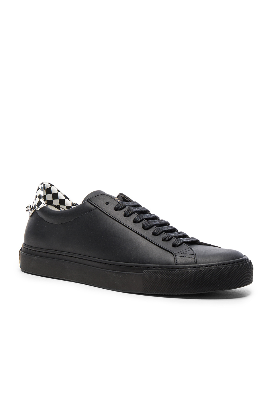 Givenchy Leather Urban Street Low Sneakers in Black