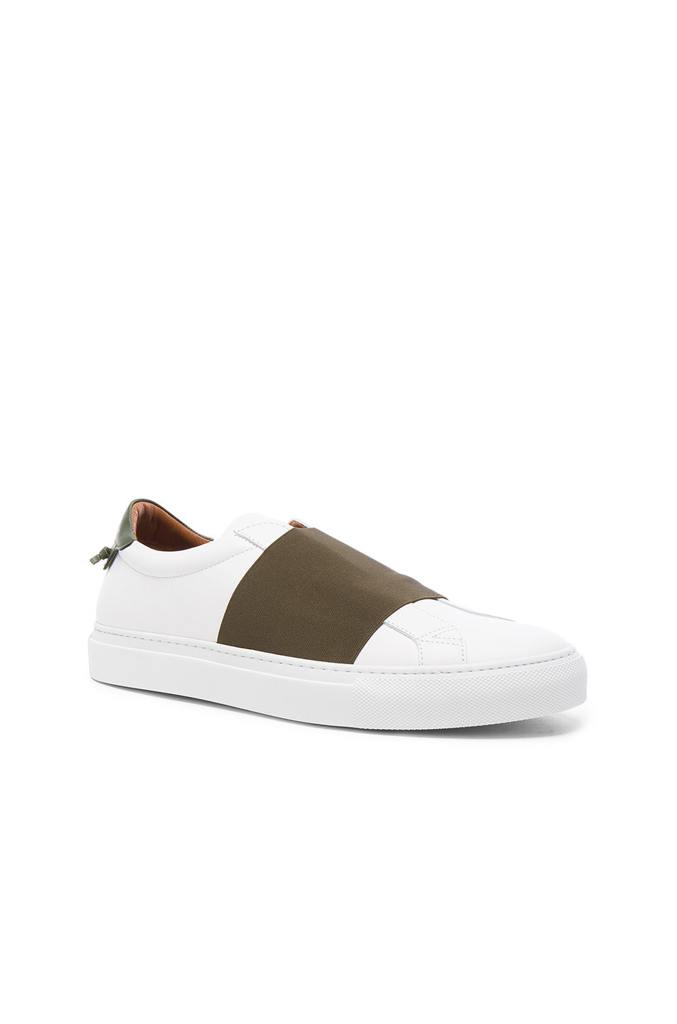 Givenchy Leather Skate Elastic Sneakers in White