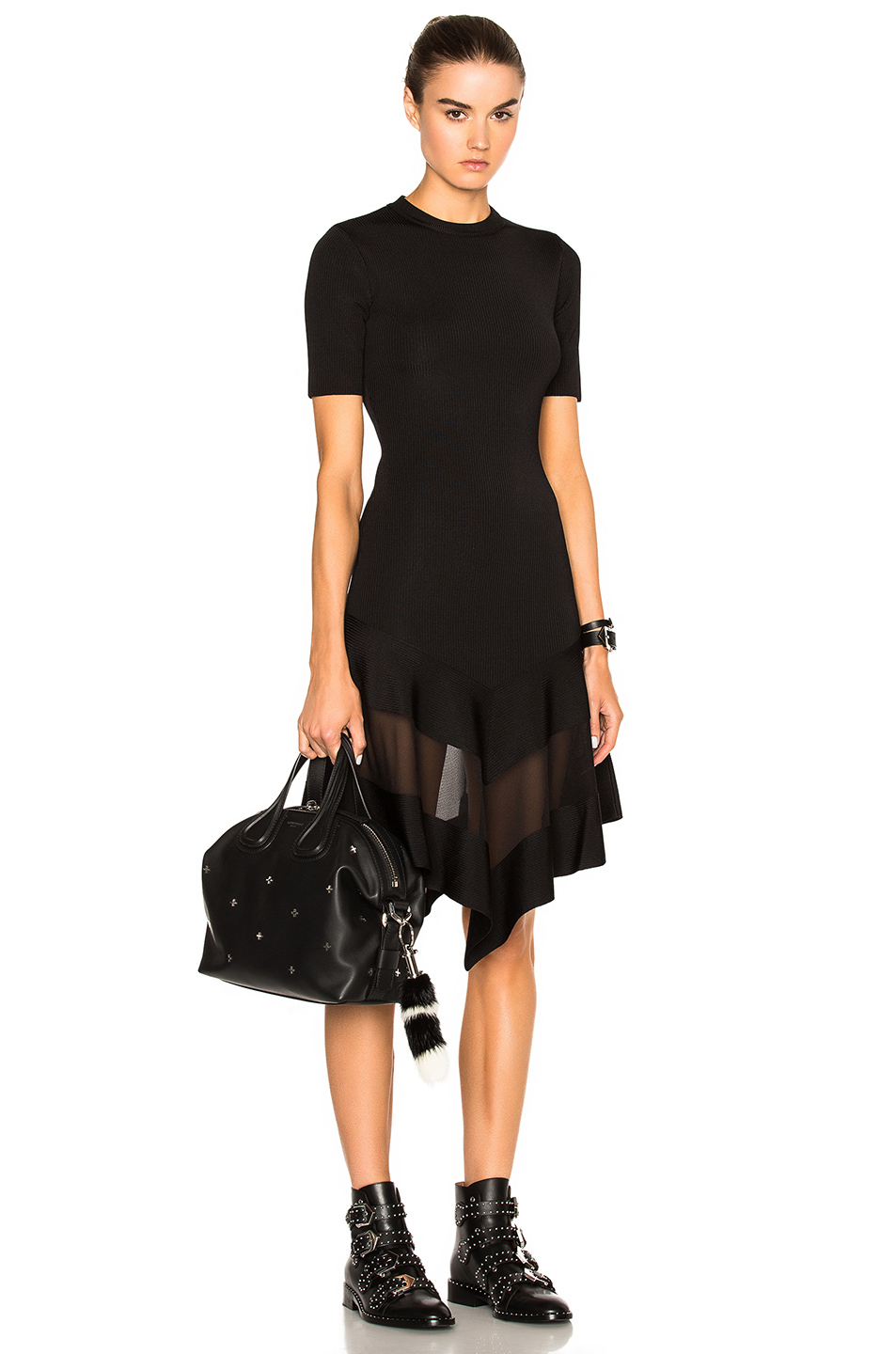 Givenchy Short Sleeve Dress in Black