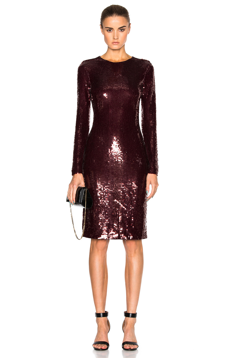 Givenchy Sequin Dress in Red,Purple