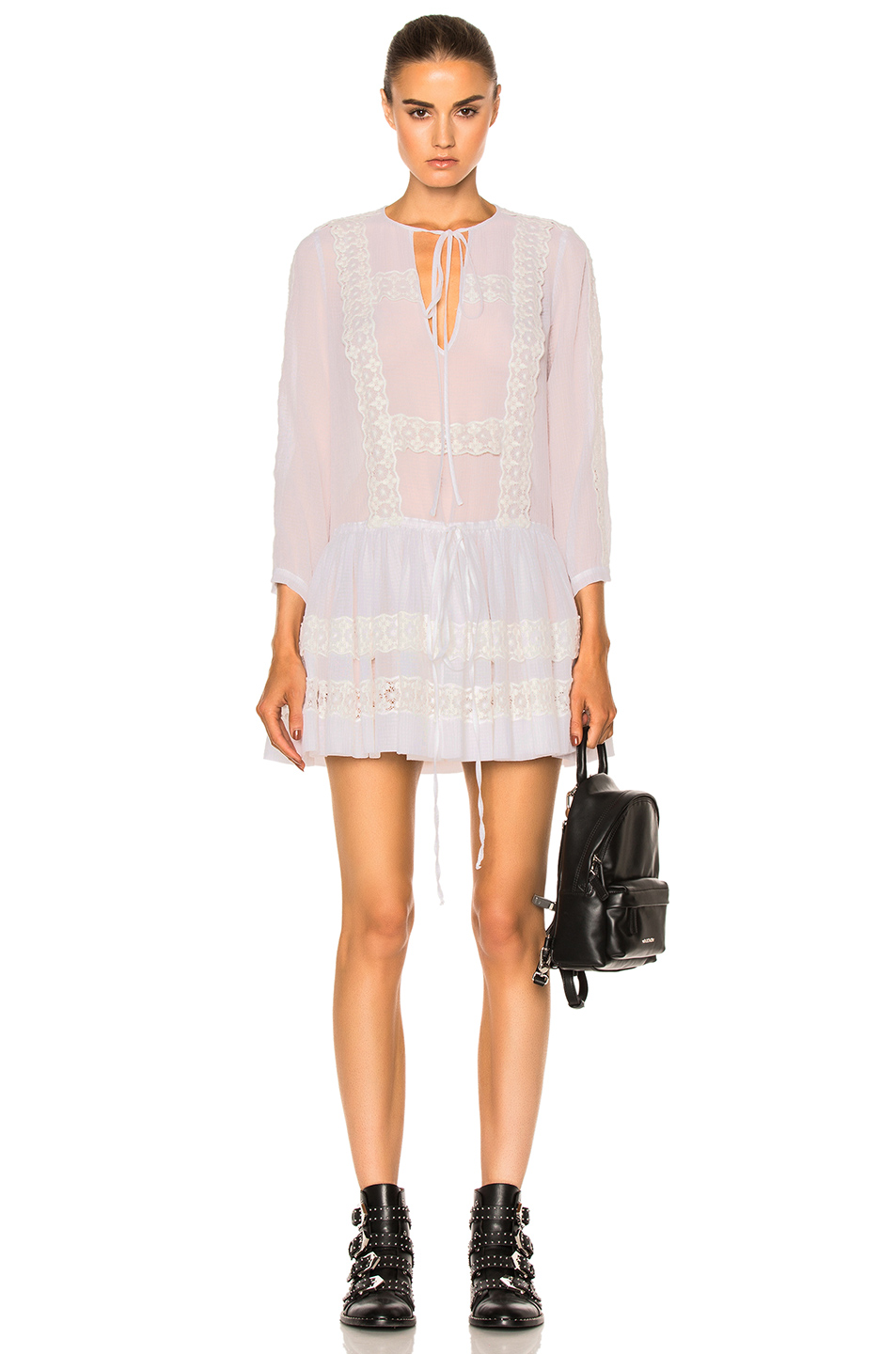Givenchy Lace Detail Dress in White