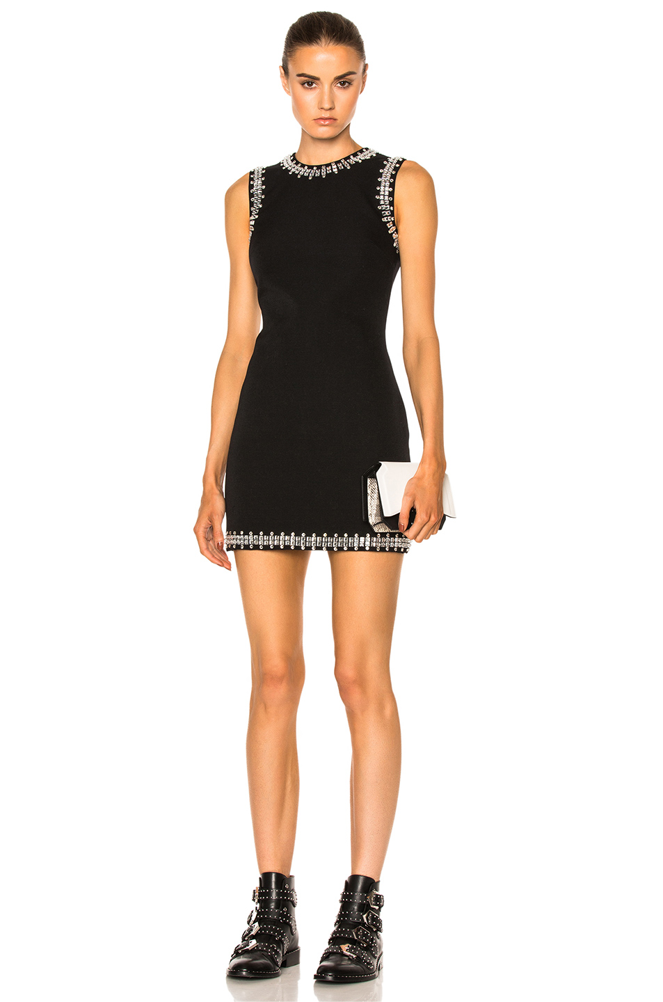 Givenchy Crystal Trim Dress in Black