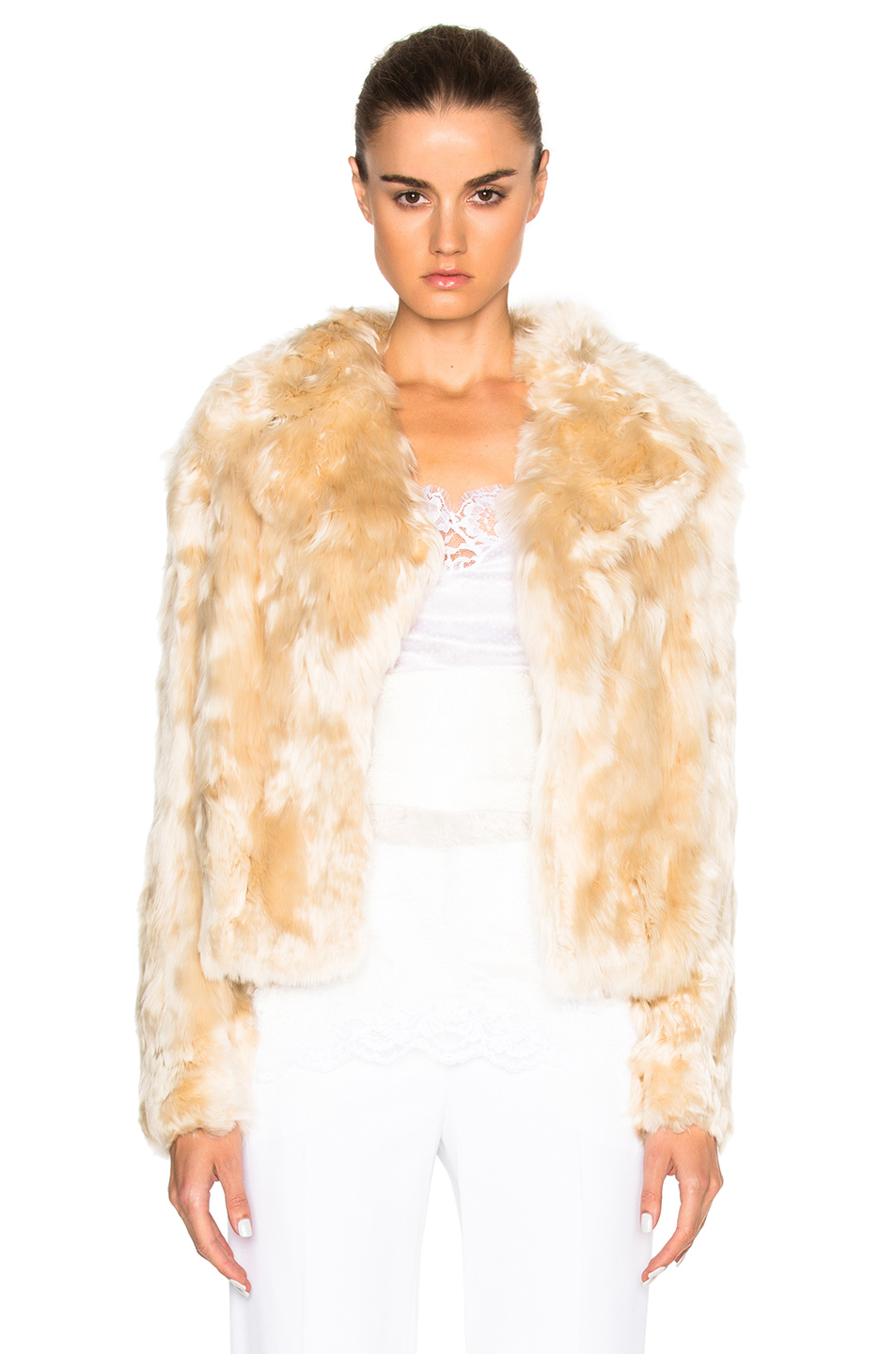 Givenchy Alpaca Fur Jacket in Neutrals