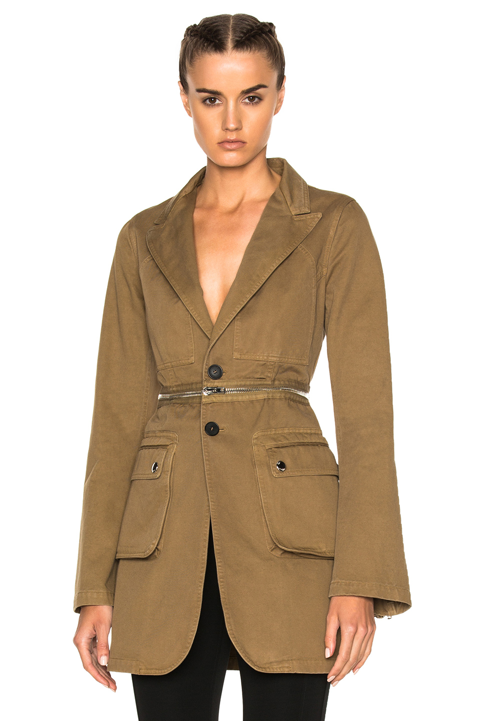 Givenchy Zip Detail Jacket in Brown