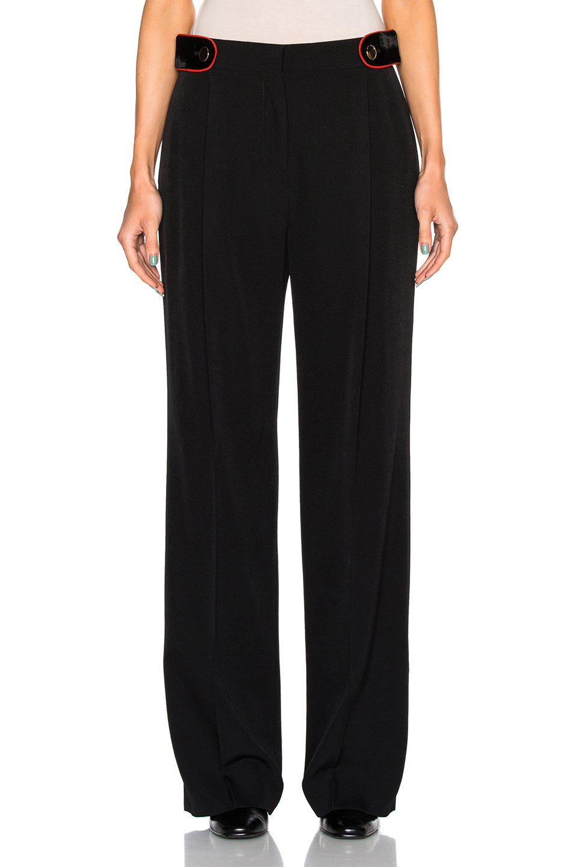 Givenchy Cavalry Grain de Poudre Trousers in Black