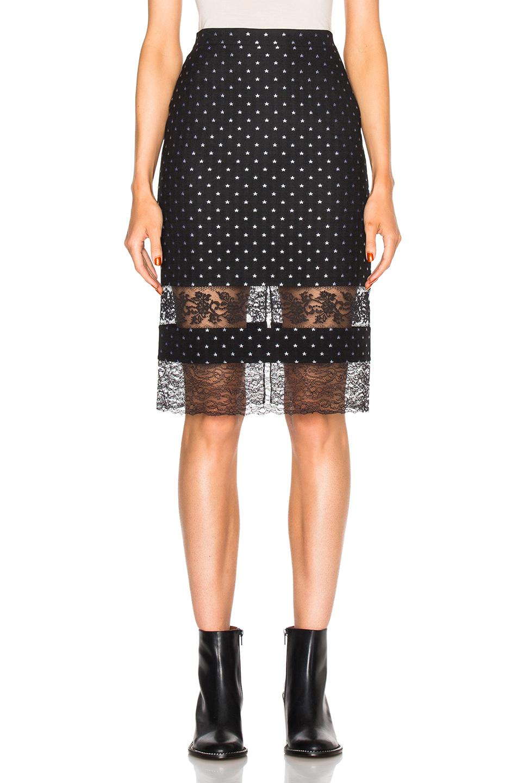 Givenchy Star Jacquard Skirt in Black,Geometric Print
