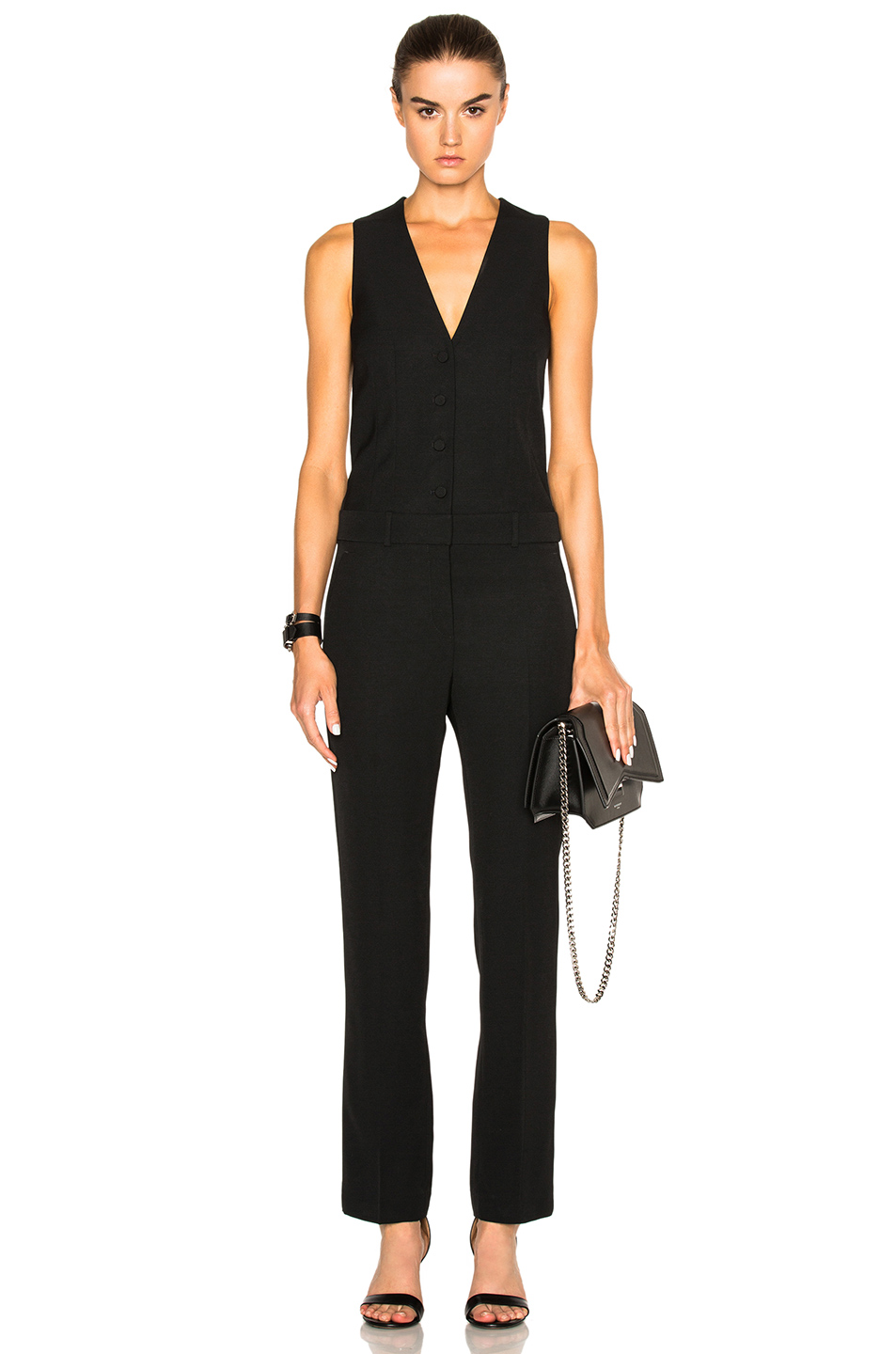 Givenchy Crepe Satin Jumpsuit in Black