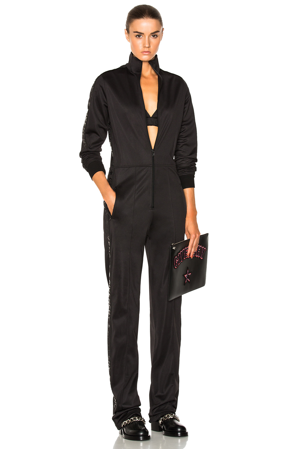 Givenchy Logo Band Jumpsuit in Black