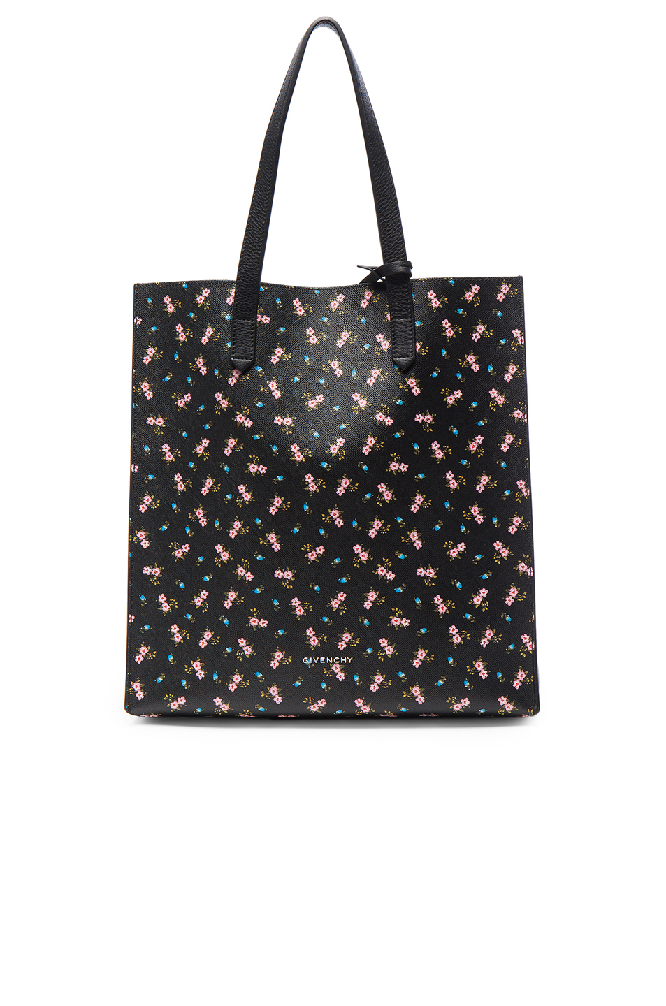Givenchy Medium Pink Hibiscus Printed Stargate in Black,Floral
