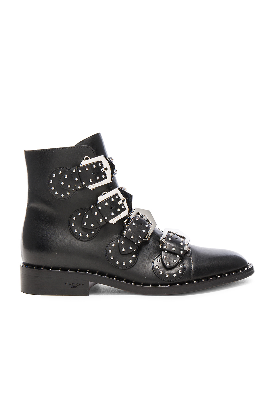 Givenchy Elegant Studded Leather Ankle Boots in Black