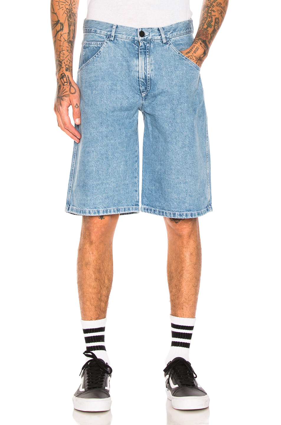 Gosha Rubchinskiy Yin Yang Denim Shorts in Blue