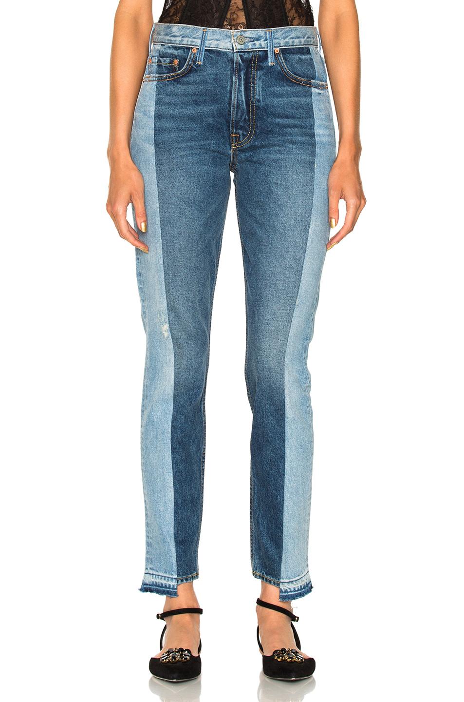 GRLFRND for FWRD Karolina High-Rise Skinny in Blue