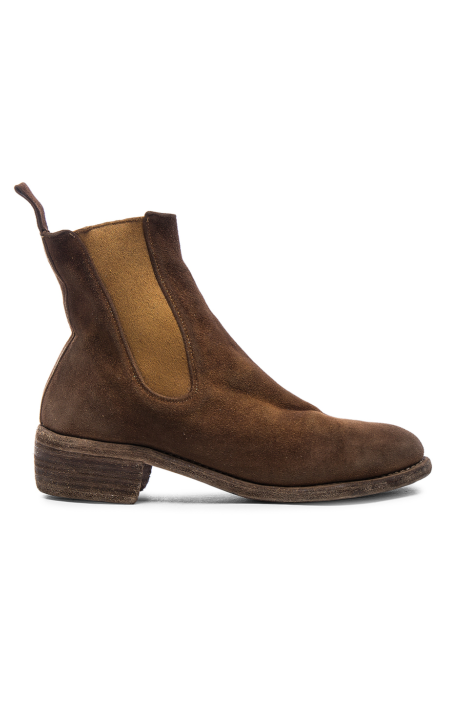 Guidi Stag Chelsea Boots in Brown