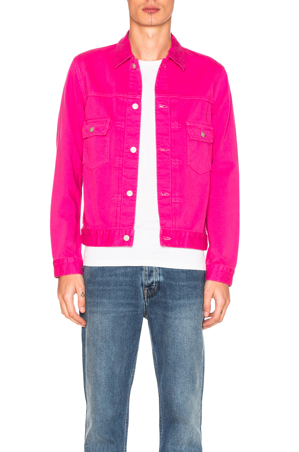 GANRYU Cotton Satin Jacket in Pink