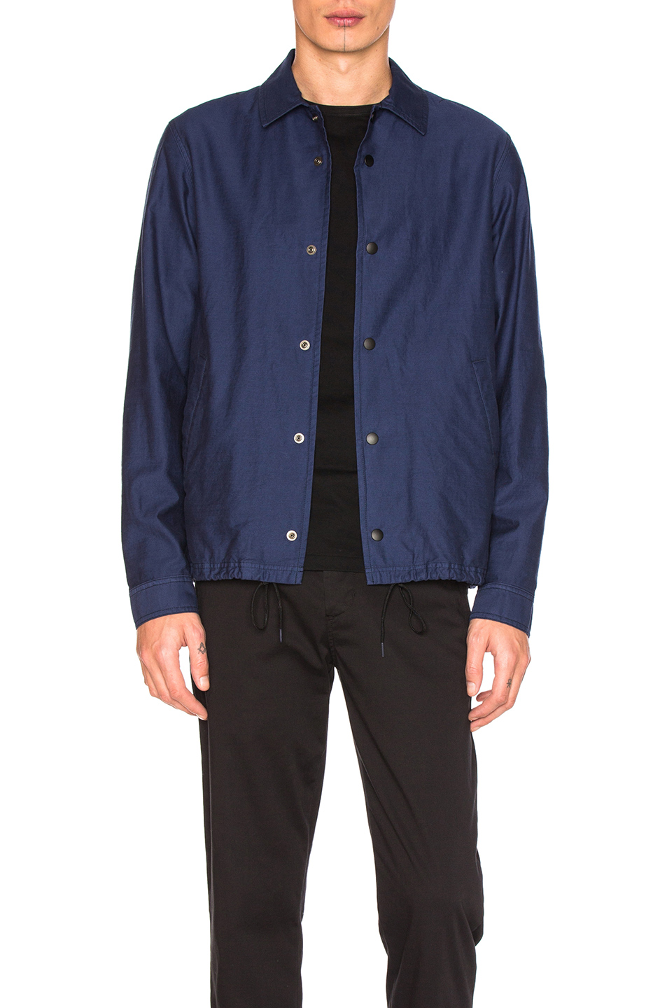 GANRYU Cotton Moleskin Jacket in Blue