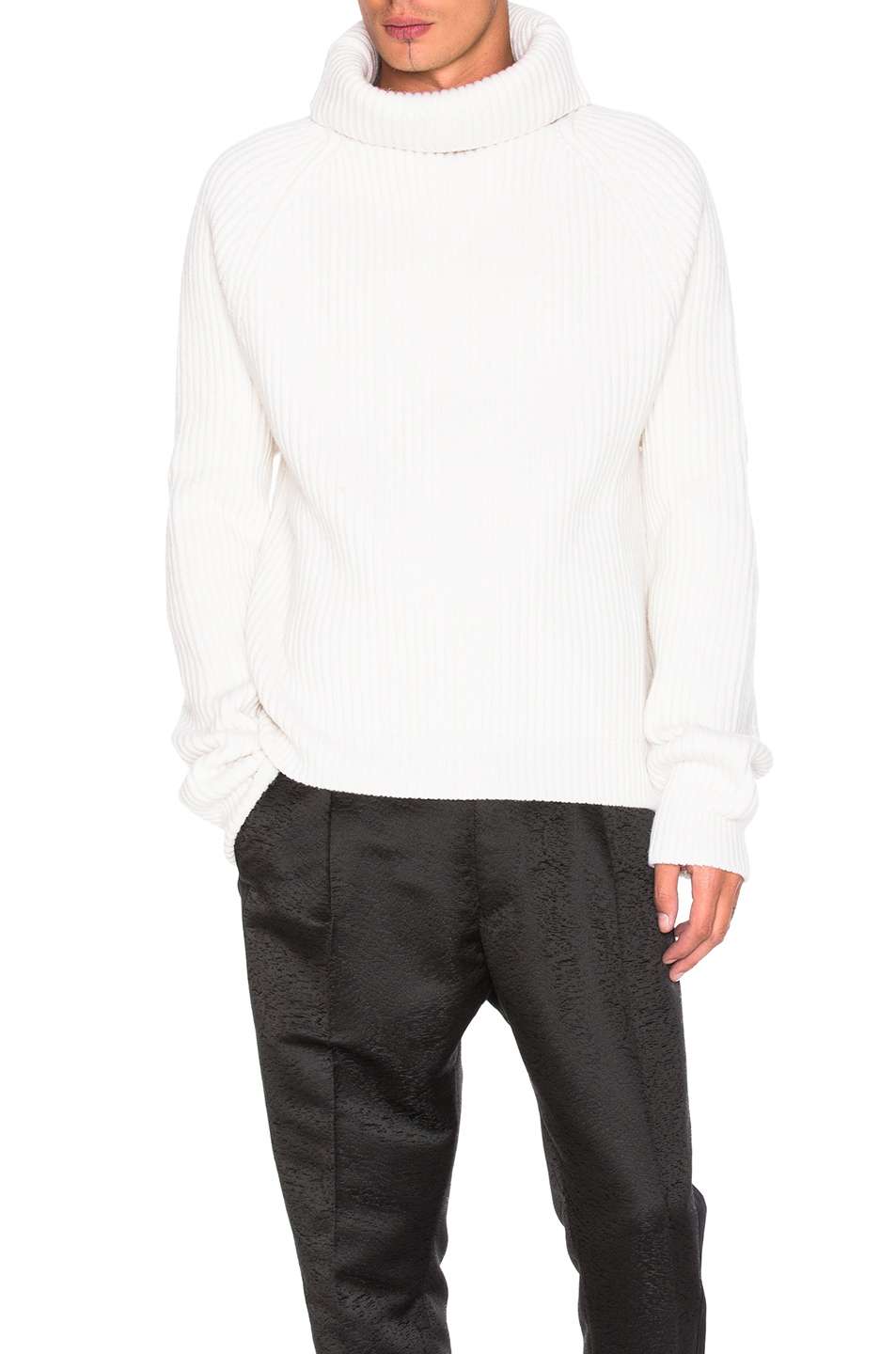 Haider Ackermann Chunky Knit Jumper in White