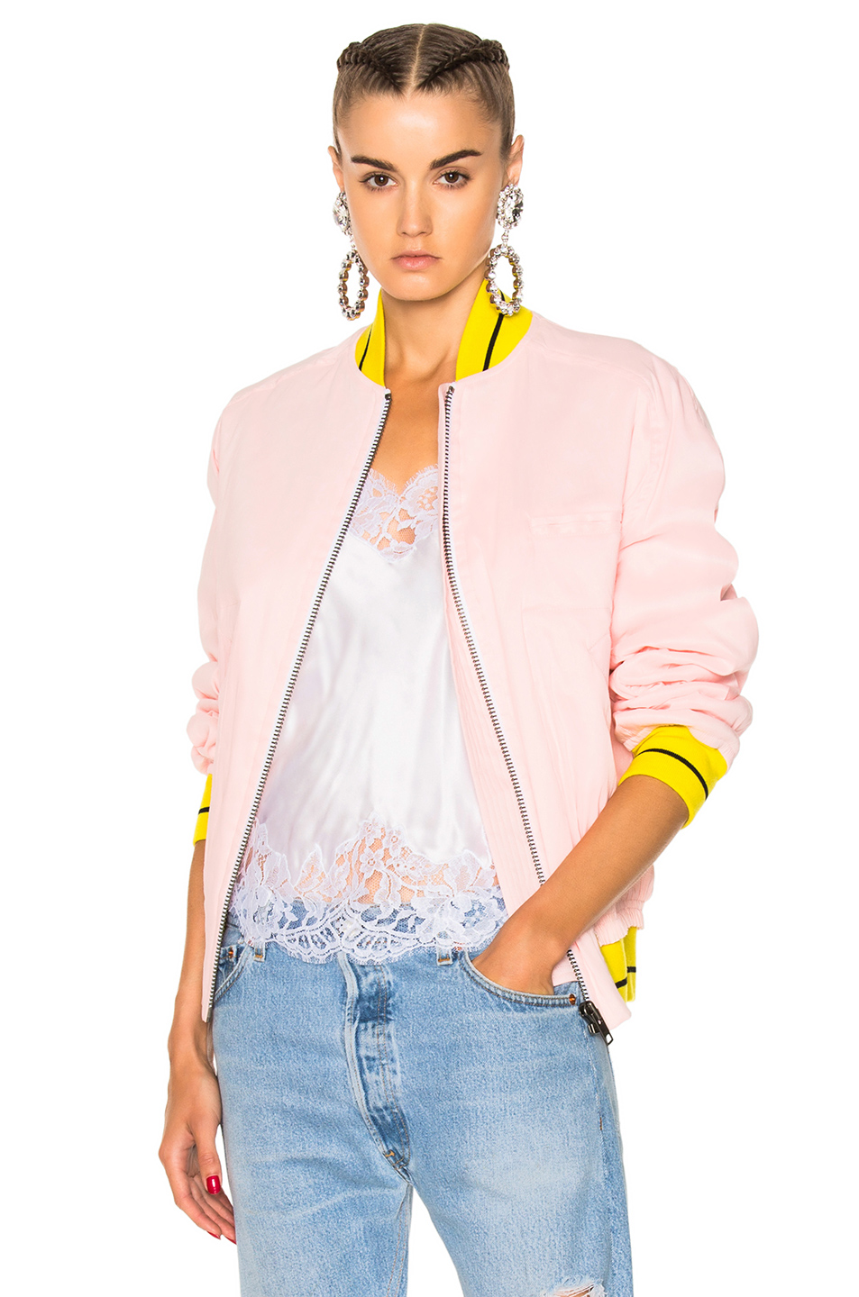 Haider Ackermann Bomber Jacket in Pink