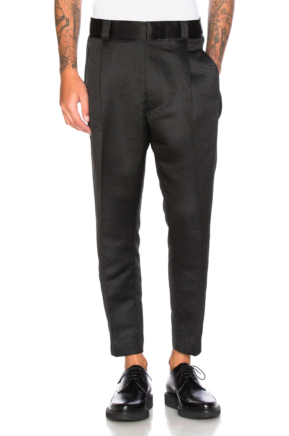 Haider Ackermann Dropped Crotch Trousers in Black